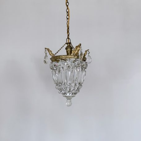 Small French Crystal Basket Chandelier