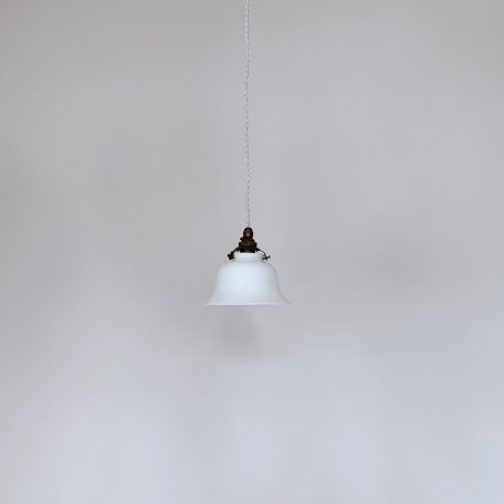 Small Polished White Glass Shade