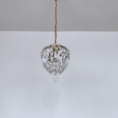 Small Pretty Crystal Basket Chandelier
