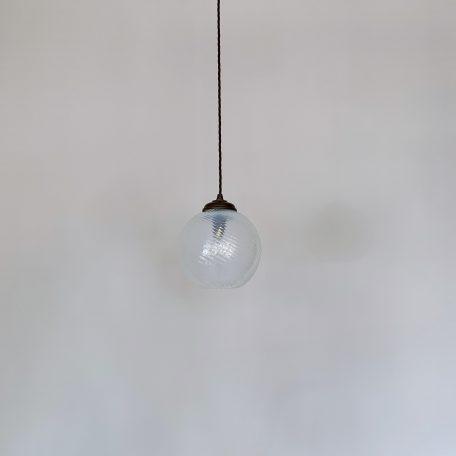 Vaseline Swirl Globe Glass Shade
