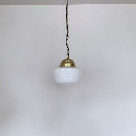 Contemporary Small Opaline School House Shades