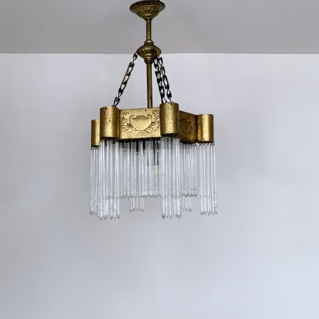 French 19th Century Brass Chandelier