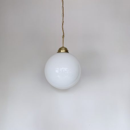 Large Contemporary Opaline Globe Shade