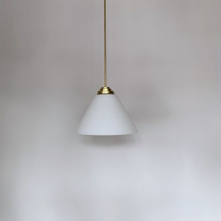 Pair of Large Conical Glass Shades