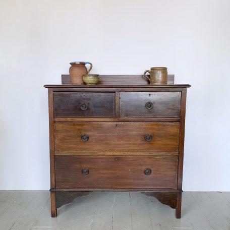 Small Mahogany Veneered Chest of Drawers