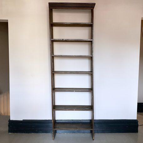 Tall Vintage Mahogany Shelf
