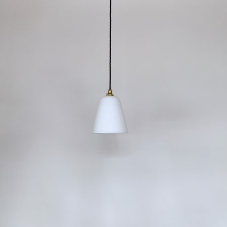 White Conical Glass Shades