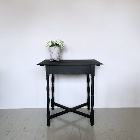 Black Painted Side Table