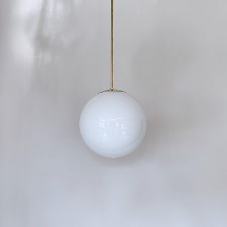 Contemporary Globe Shade on Monks Cap Fitting with Brass Bar