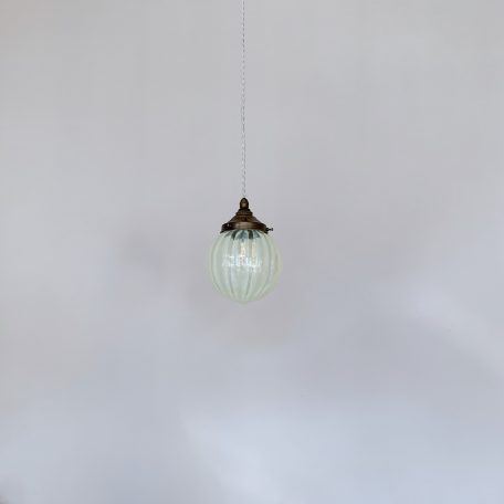 Enclosed Yellow Vaseline Glass Shade