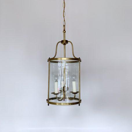 French Brass Cylindrical Lantern