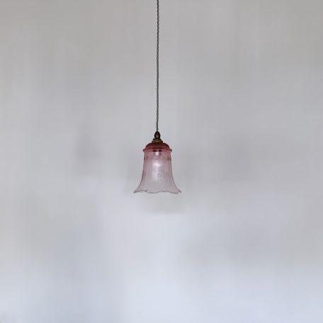 French Pink Etched Fluted Shade