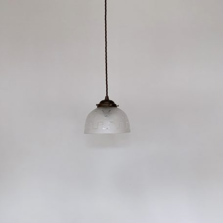 Frosted Glass Shade with Star Details