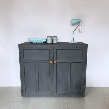 Graphite Painted Cupboard