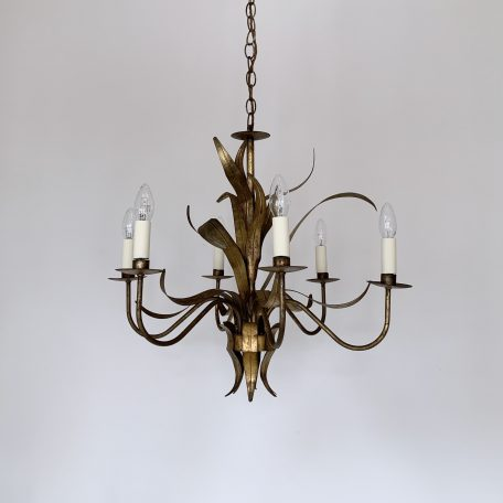 Large French Toleware Chandelier