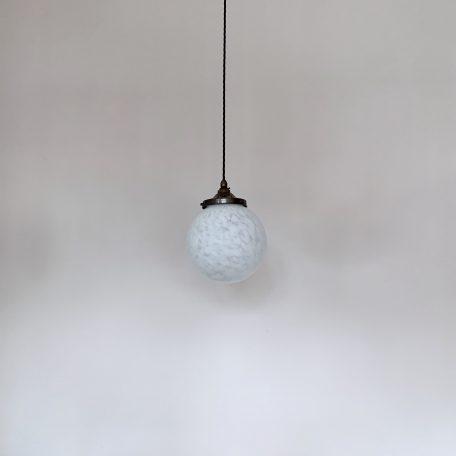 Matte White Mottled Glass Globe Shade