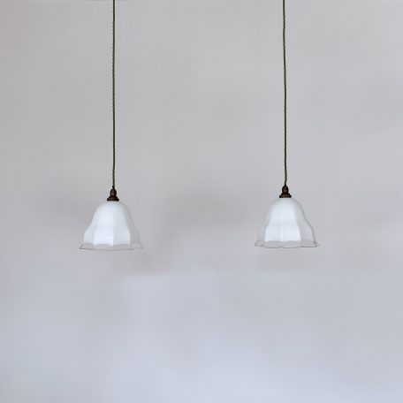 Pair of French Glass Shades