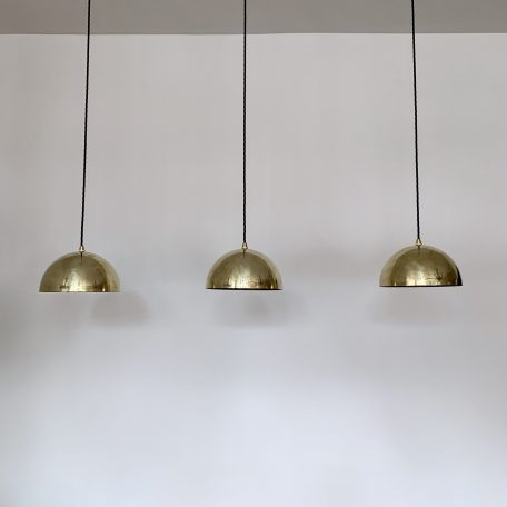 Three Brass Domed Shades